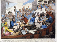 'Admiral Nelson recreating with his brave tars after the glorious Battle of the Nile' by Thomas Rowlandson